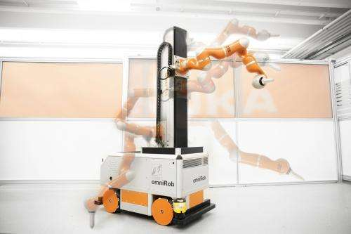 Mobile robots support airplane manufacturers