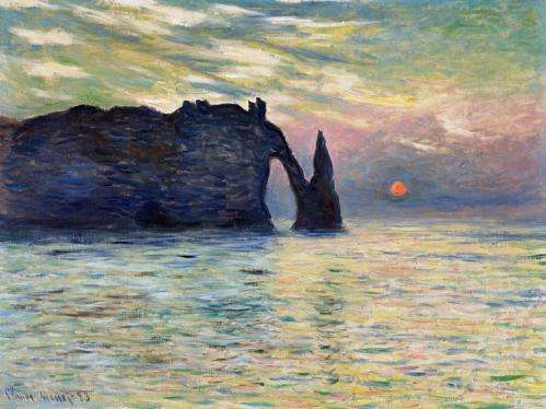 Monet's striking cliff by the sea beckons 'celestial sleuths'