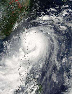 NASA provides double vision on Typhoon Matmo