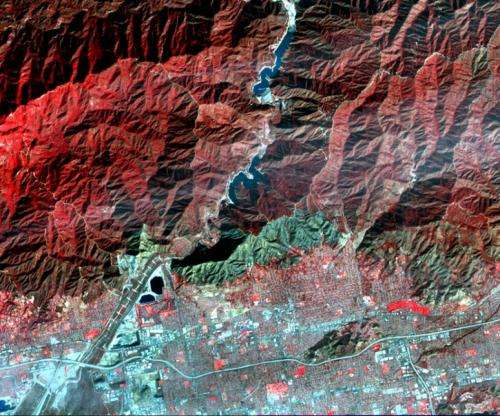 NASA's Terra spacecraft images destructive Colby fire East of Los Angeles