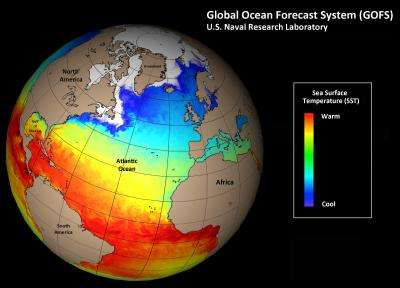 Navy transitions global ocean forecast system for public use