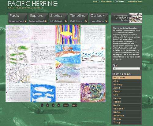 New website engages viewers in herring story