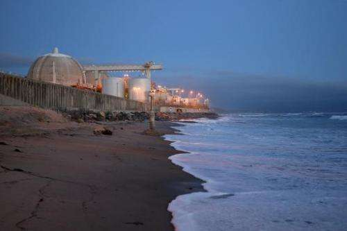 Ocean waves come ashore near a nuclear reaction facility in San Clemente, CA, March 15, 2012