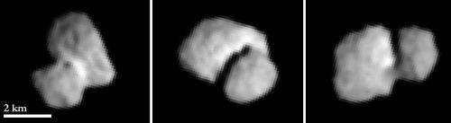 OSIRIS images of Rosetta's comet resolve structures at 100 meters pixel scale