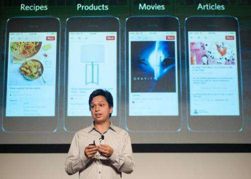 Pinterest CEO Ben Silbermann addresses a Pinterest media event at the company's corporate headquarters in San Francisco, Califor