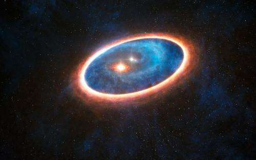 Planet-forming lifeline discovered in a binary star system