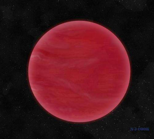 Red skies discovered on extreme brown dwarf