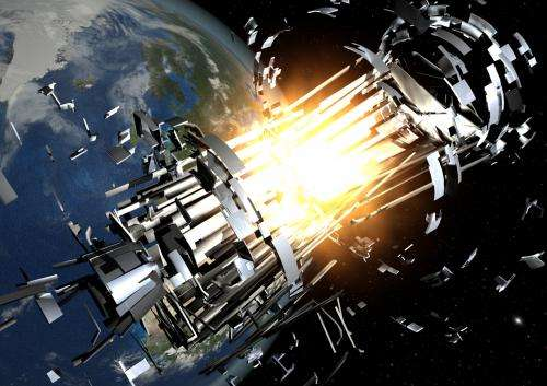 Reducing debris threat from satellite batteries