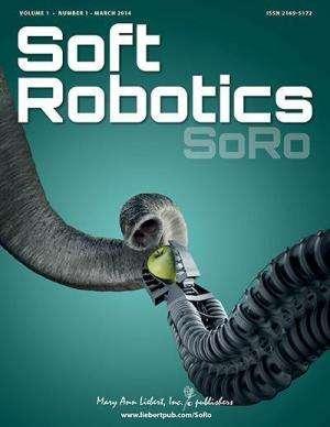 Robotic fish designed to perform escape maneuvers described in Soft Robotics journal