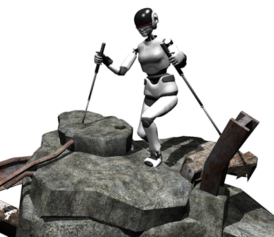 Robots are designed to take a hike with walking poles