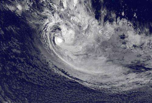 Satellite sees newborn So. Pacific Tropical Storm Mike