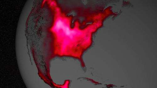 Satellite shows high productivity from US corn belt