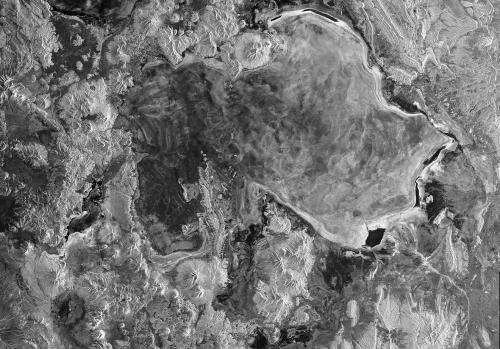 Sentinel's radar image of the Salar de Uyuni, Bolivia