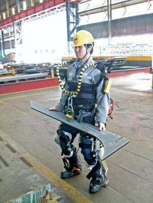 Shipyard workers test out robot suits in South Korea