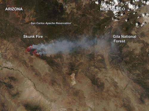 Skunk Fire, Arizona