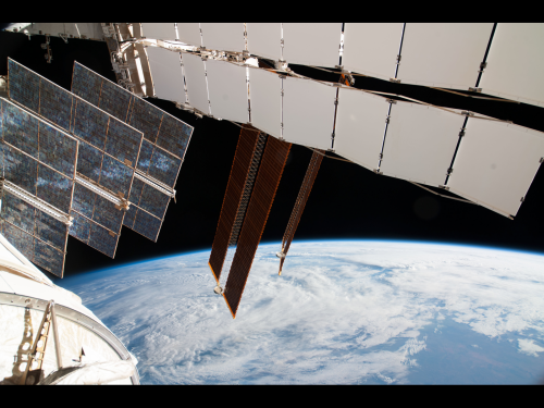 Solar Array Panels on Russian Segment of Space Station