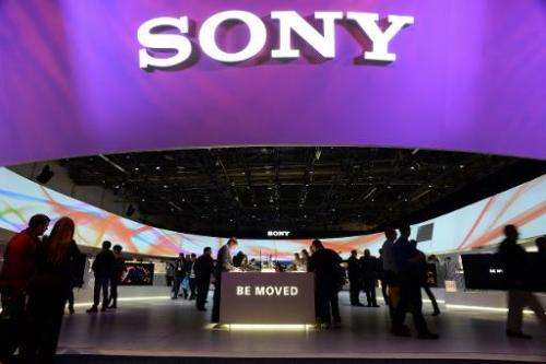 Sony booth in Las Vegas, Nevada, on January 10, 2014