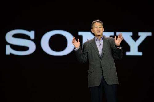 Sony CEO and President Kazuo Hirai gives his keynote address on the opening day of the 2014 International CES on January 7, 2014