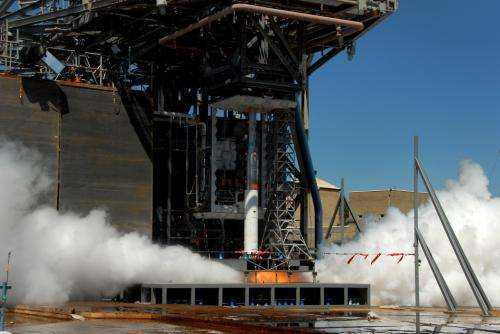 Space launch system core stage model 'sounds' off for testing