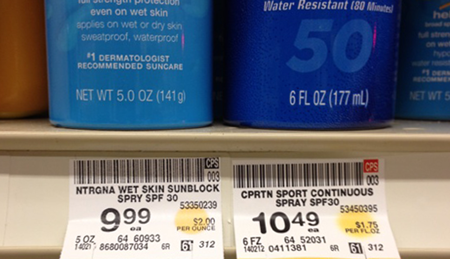 Standardizing net quantity statements for aerosol cans