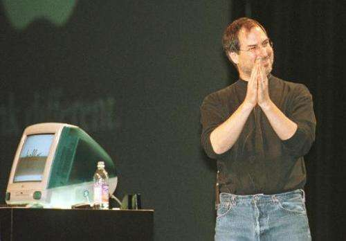 Steve Jobs introduces the iMac personal computer in San Francisco in Spetember 1, 1998, 14 years after the release of the first