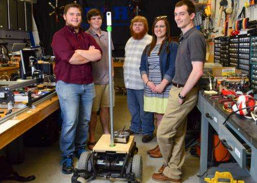 Students turn $250 wheelchair into geo-positioning robot