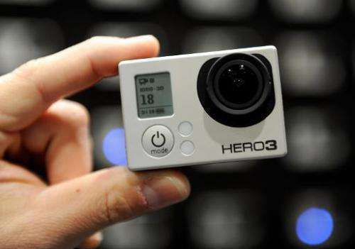 The GoPro Hero 3 with intergrated WiFi is displayed at the 2013 International CES at the Las Vegas Convention Center in Nevada,
