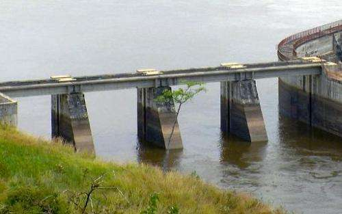 The Inga hydroelectric dam, west of Democratic Republic of Congo's capital Kinshasa, on August 15, 2011