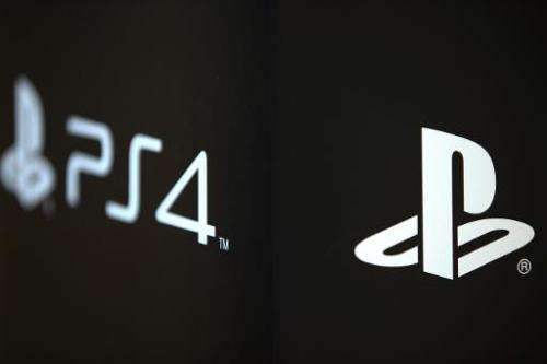 The logo of new Sony Playstation 4 video game console (PS4)