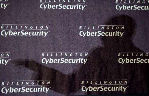 The shadow of US Army General Keith Alexander, commander of US Cyber Command and director of the National Security Agency (NSA),