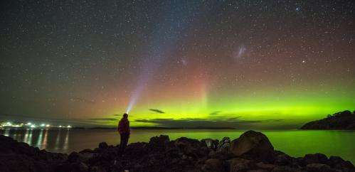 The Southern Lights put on a display in the night sky