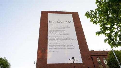 The writing is on the wall for air pollution thanks to air-cleansing poem