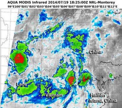 Typhoon Rammasun made final landfall near China and Vietnam border