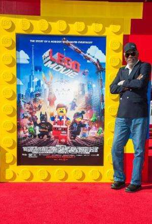"US actor Morgan Freeman at the premiere of ""The Lego Movie"" at the Westwood Village Theatre in Los Angeles on February"