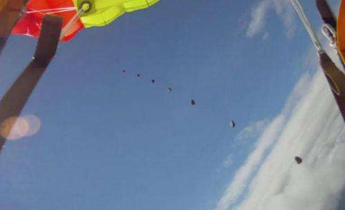 Norwegian skydiver almost gets hit by falling meteor
