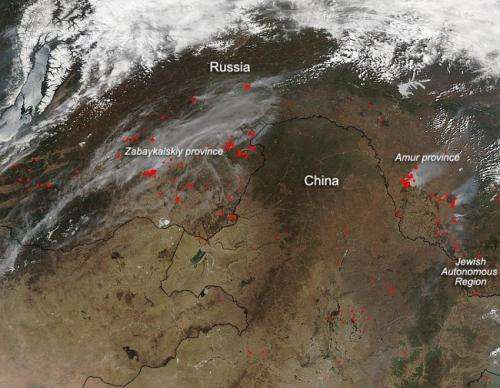 Wildfire outbreak in far eastern Russia