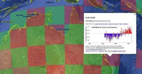 World temperature records available via Google Earth