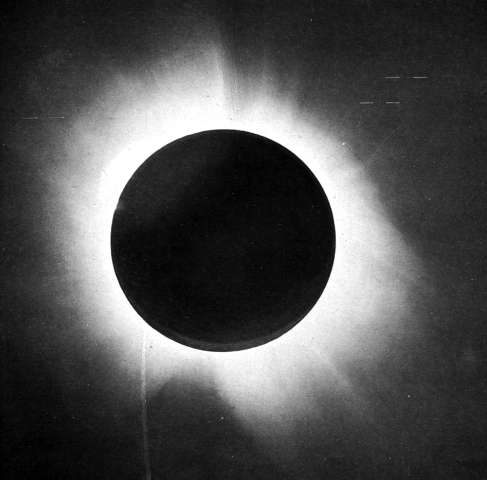 A solar eclipse sheds light on physics