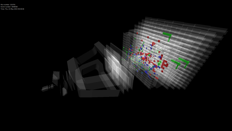 First images of LHC collisions at 13 TeV