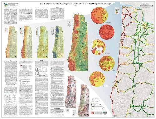 Landslide Maps Oregon Map Outlines Western Oregon
