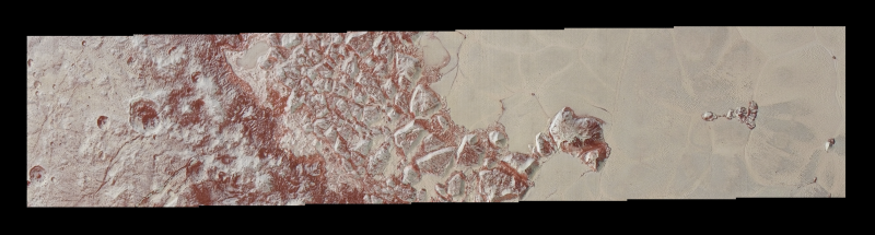 Perplexing new 'snakeskin' image of Pluto terrain from New Horizons