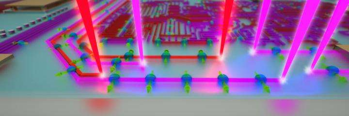 Scientists paint quantum electronics with beams of light