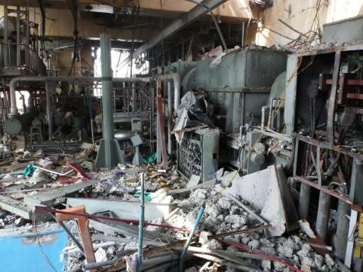 The fourth floor of the unit four reactor building of TEPCO's Fukushima Dai-ichi plant, shown in a picture released on June 11,
