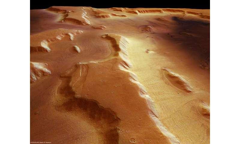 Mars has belts of glaciers consisting of frozen water