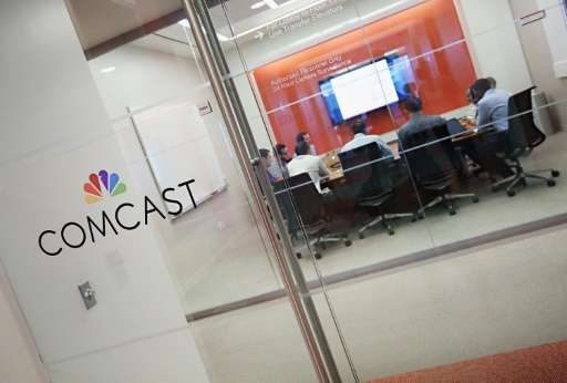 Communications giant Comcast is among the top US providers of broadband Internet services, the average speed of which tripled fr