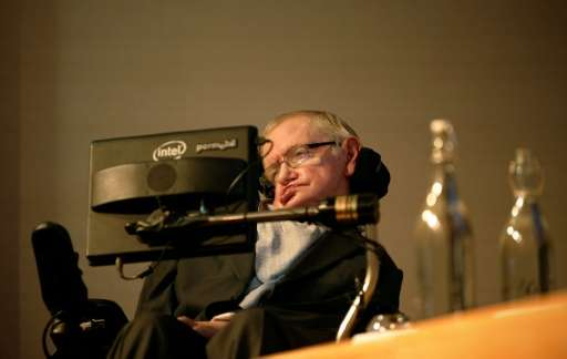 Cosmologist Stephen Hawking, seen December 16, 2015 at the London launch of a science-communication award bearing his name, says
