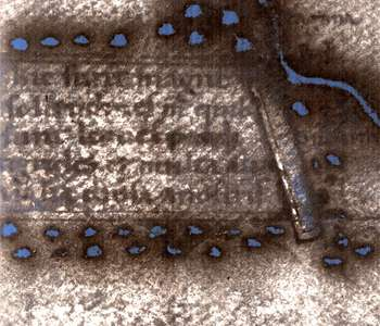 Hidden secrets of 1491 world map revealed via multispectral imaging