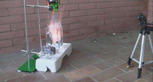 Chemists use high speed camera to fully explain high school explosion demonstration