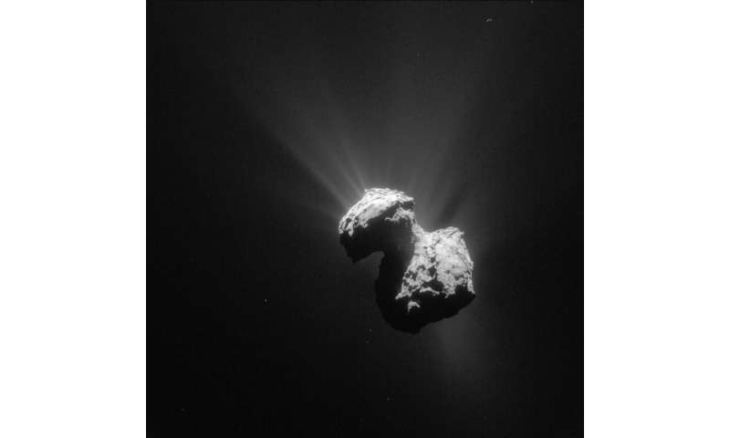Rosetta finds molecular oxygen on comet 67P