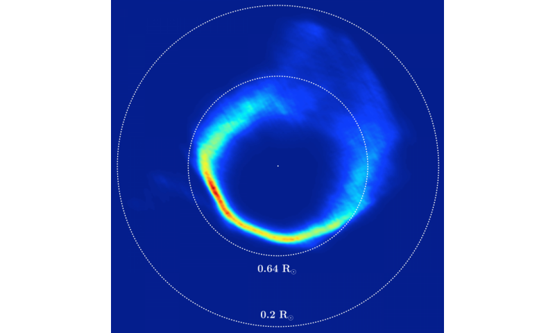 Asteroid ripped apart to form star's glowing ring system